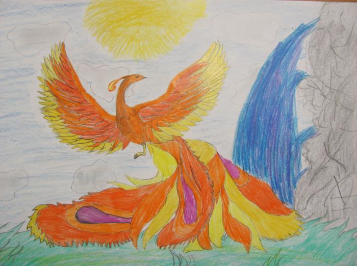 Как нарисовать Жар-птицу на