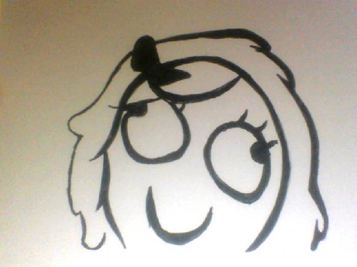 Как нарисовать мема derpina карандашом