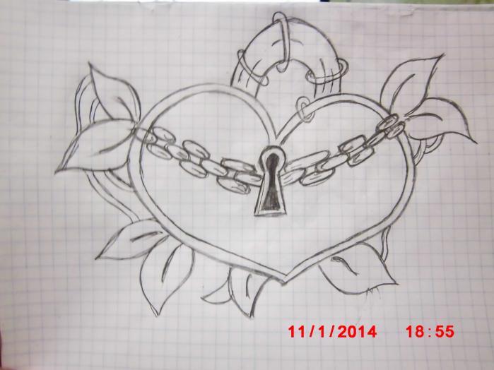 Красивый рисунок карандашом про любовь поэтапно