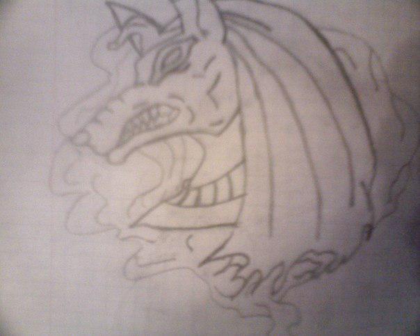 Как нарисовать анубиса карандашом поэтапно 29