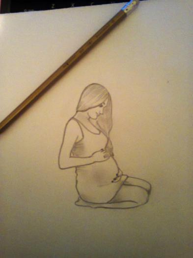 Беременная девушка для срисовки 77