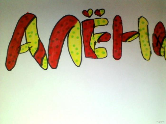Как нарисовать граффити своё имя