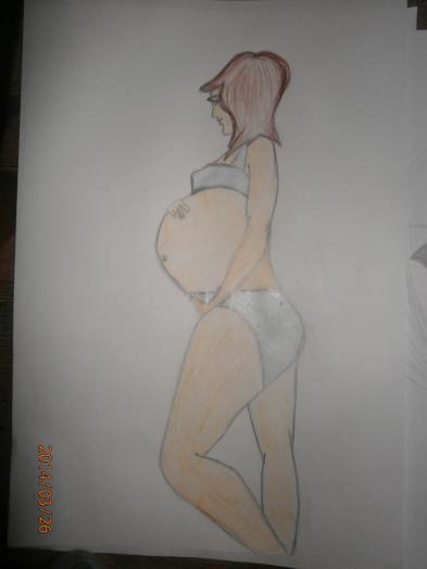 Беременная девушка для срисовки 63