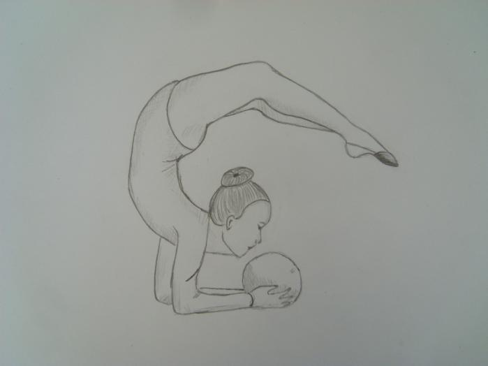 Нарисовать гимнасток поэтапно