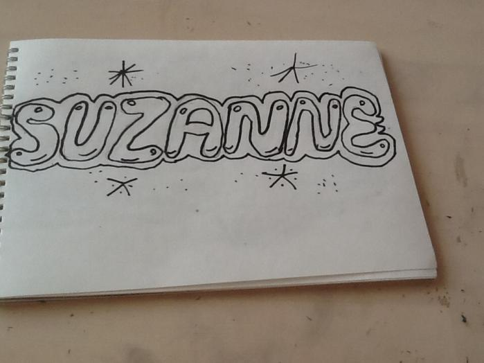 Как красиво нарисовать слово suzanne