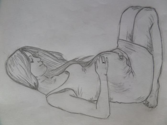 Беременная девушка для срисовки 75