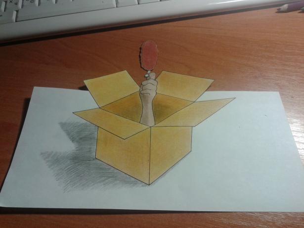 Так поэтапно научиться рисовать 3д