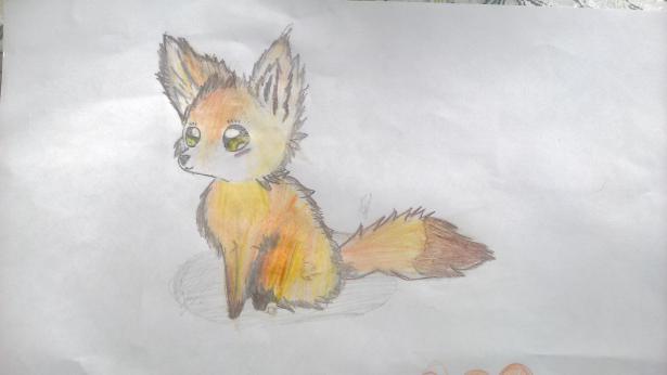 Девочка сзади рисунок карандашами