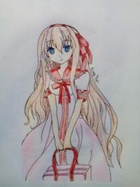 Как нарисовать милую аниме девочку с сумкой