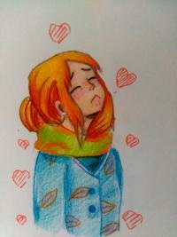 Как нарисовать грустную девушку