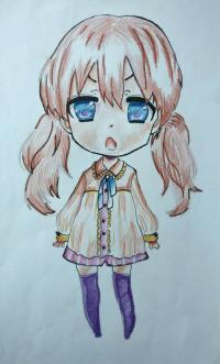 Рисуем чиби девочку