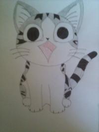 Как нарисовать аниме котика Чии из аниме Милый дом Чии