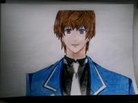 Как нарисовать Отори Эйджи из аниме Поющий принц