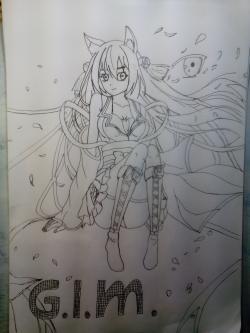 Рисуем аниме девушку поэтапно