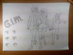 Рисуем поэтапно персонажей из аниме Бездомный Бог Ято.vvvvvvvv