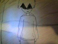 как нарисовать парня в лесу ночью