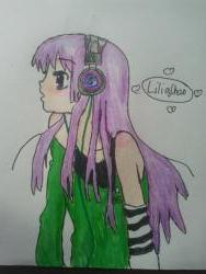 Рисуем аниме девушку в наушниках