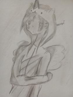 Как нарисовать милую тян в кигуруми