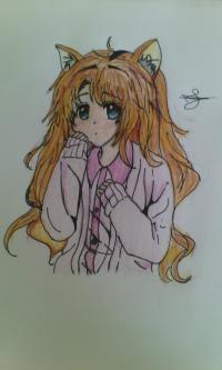 Как нарисовать девочку неко