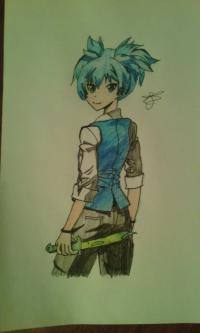Как нарисовать Нагису Шиота из аниме