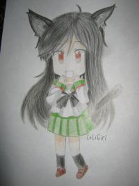 Как нарисовать чиби кошку девочку поэтапно