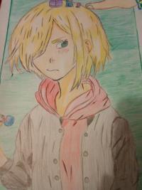 Как нарисовать Юрия Плисецкого цветными карандашами