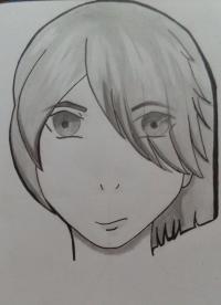 Как нарисовать портрет аниме парня