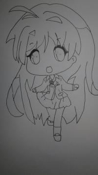 Рисуем девочку в стиле чиби