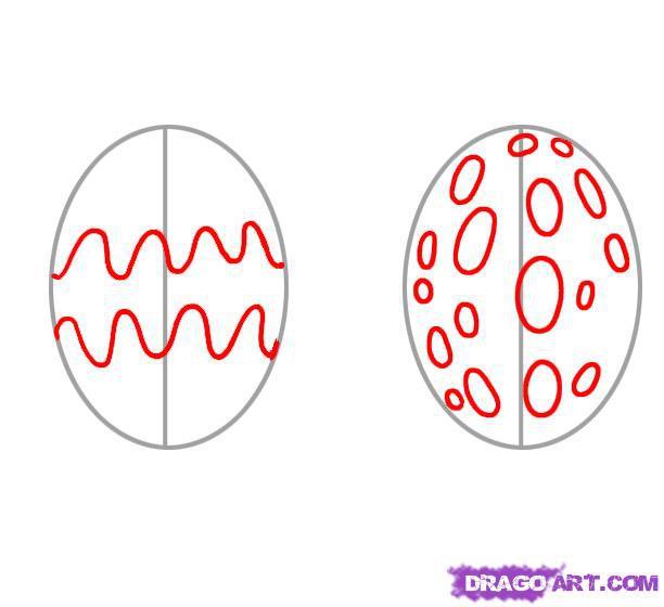 Рисуем пасхальное яйцо - шаг 2