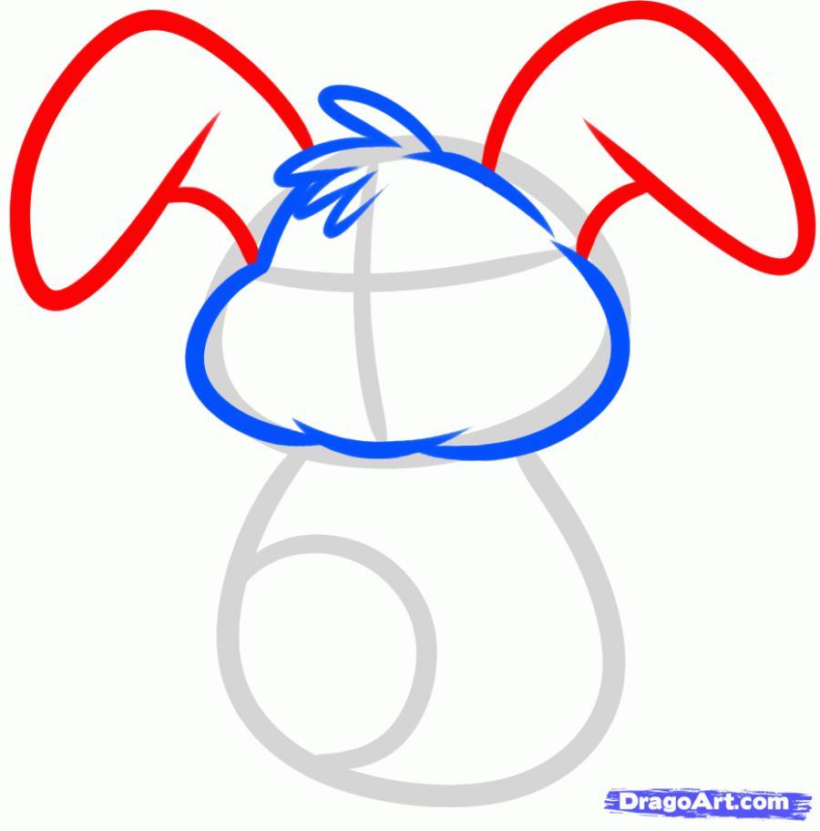 Рисуем пасхального кролика - шаг 3