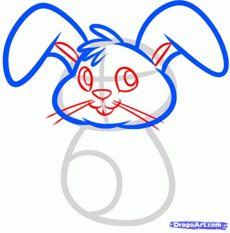 Рисуем пасхального кролика - шаг 4