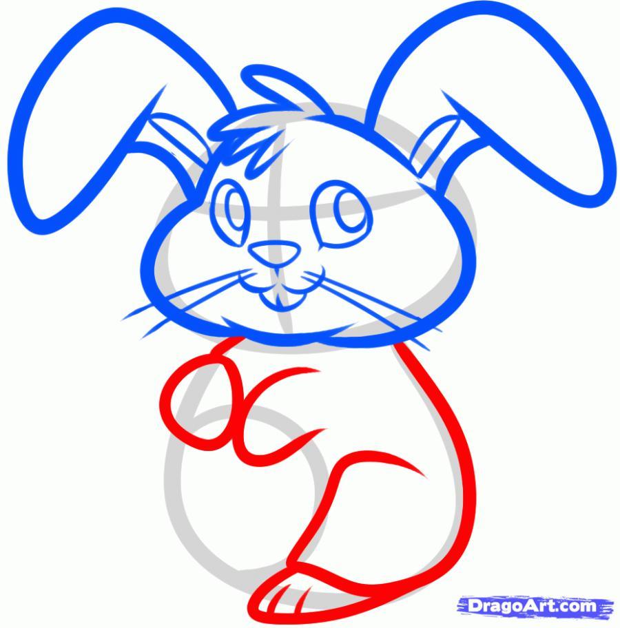 Рисуем пасхального кролика - шаг 5