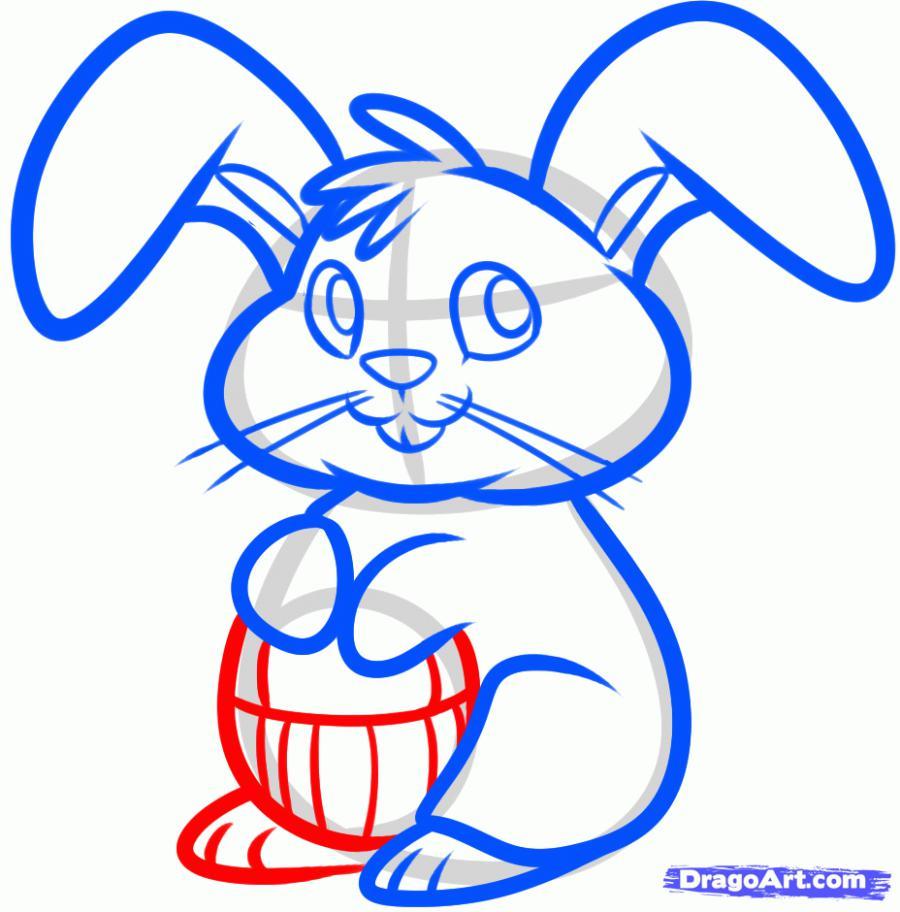Рисуем пасхального кролика - шаг 6