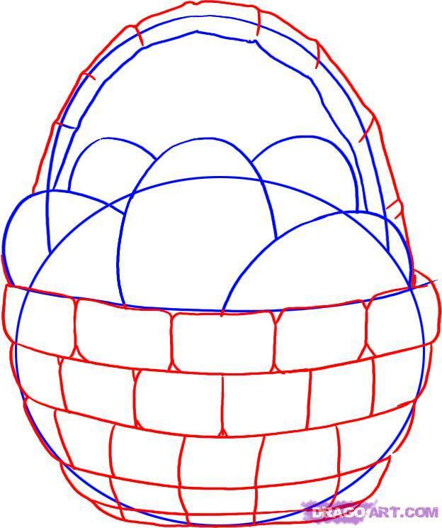 Рисуем Пасхальную корзинку - шаг 3