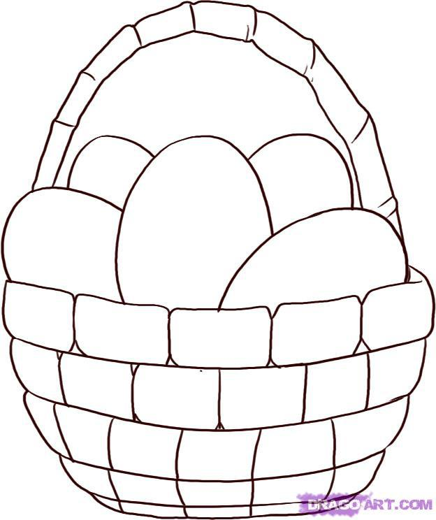 Рисуем Пасхальную корзинку - шаг 4