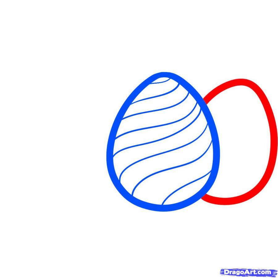 Как просто нарисовать пасхальные яйца  на бумаге - шаг 3