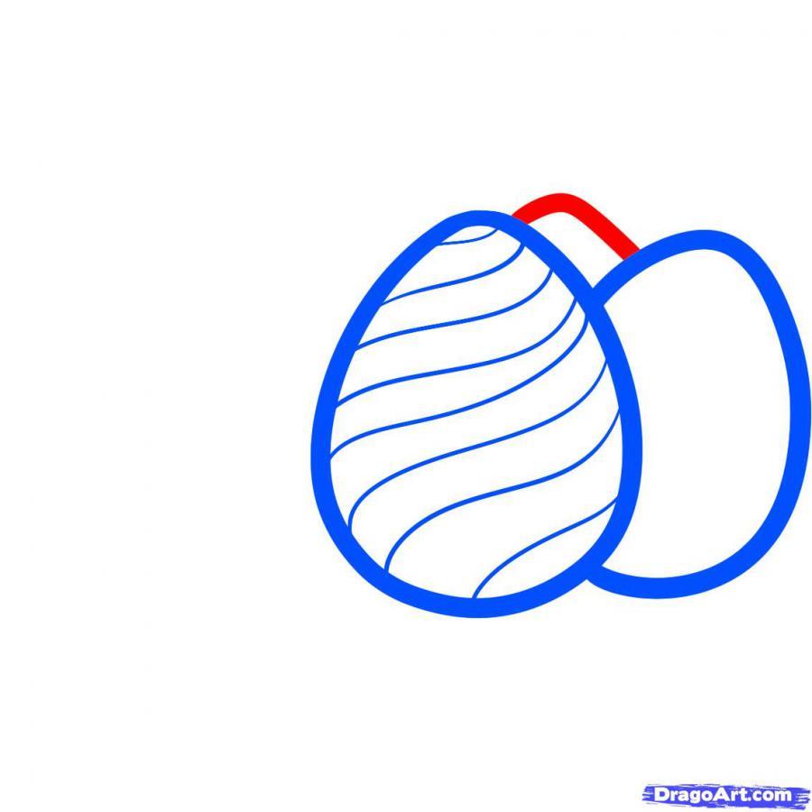 Как просто нарисовать пасхальные яйца  на бумаге - шаг 4