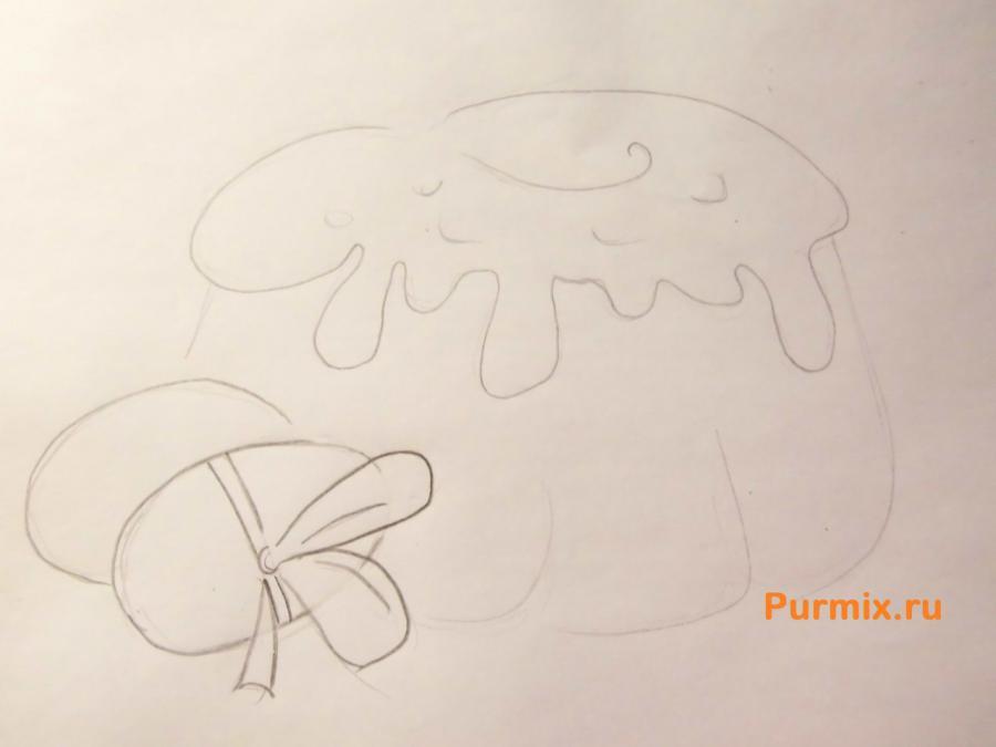 Как легко и просто нарисовать пасху с яйцами - шаг 3
