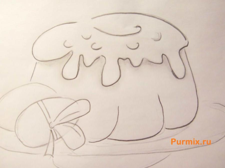 Как легко и просто нарисовать пасху с яйцами - шаг 5