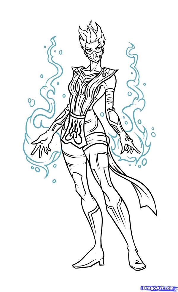 Рисуем Frost из Mortal Kombat