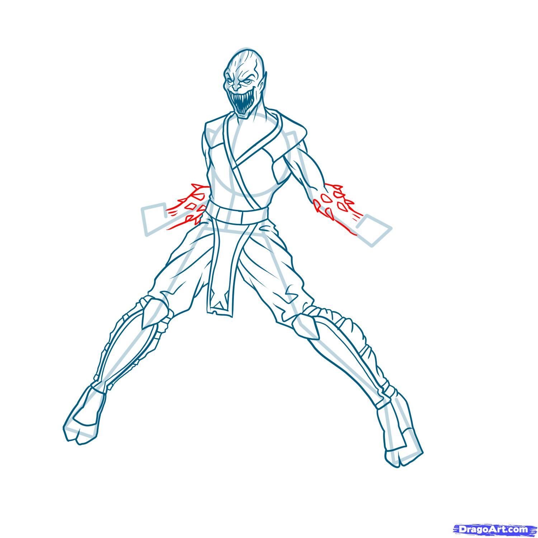 Рисуем Бараку из Mortal Kombat