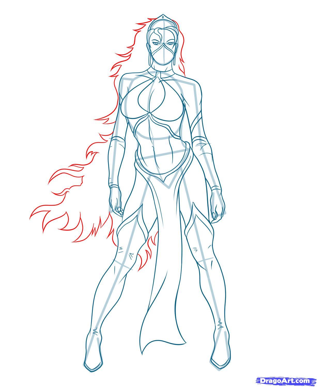 Рисуем Китану из Mortal Kombat