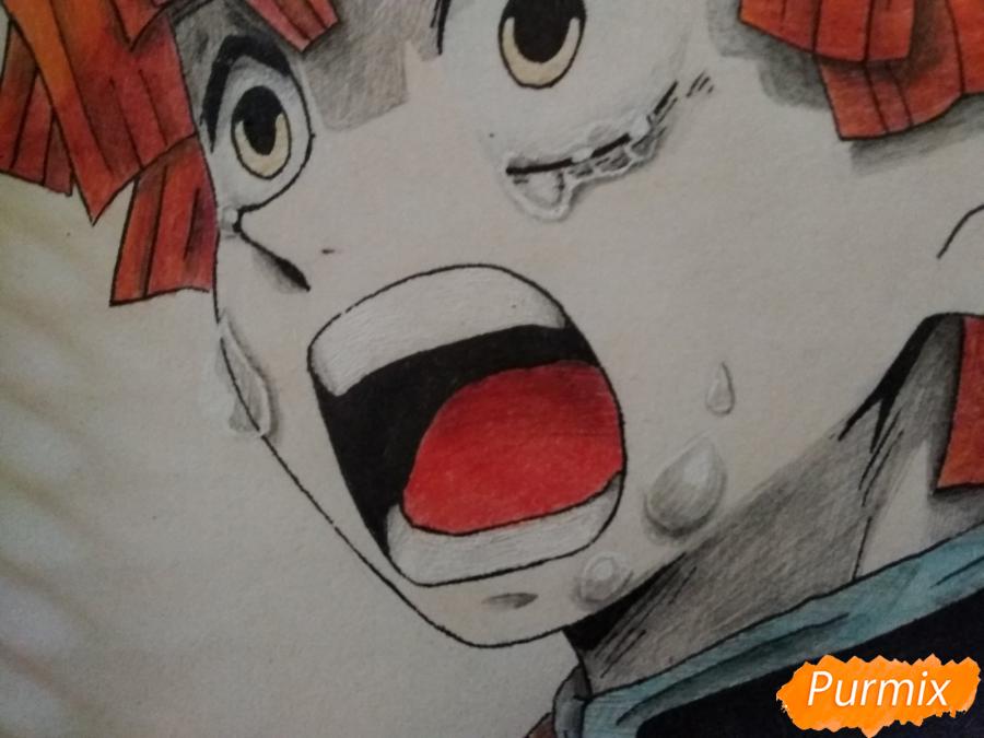 Рисуем Зеницу Агацума из аниме Клинок рассекающий демонов - шаг 10
