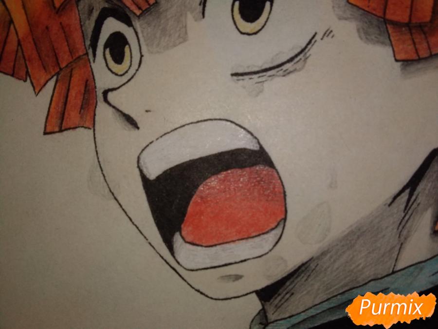 Рисуем Зеницу Агацума из аниме Клинок рассекающий демонов - шаг 9