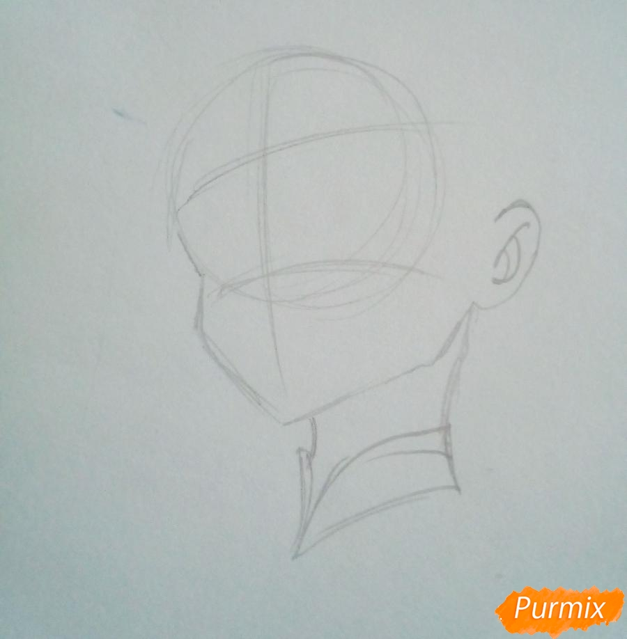 Рисуем Зороме из аниме Милый Во Франксе карандашами - шаг 1