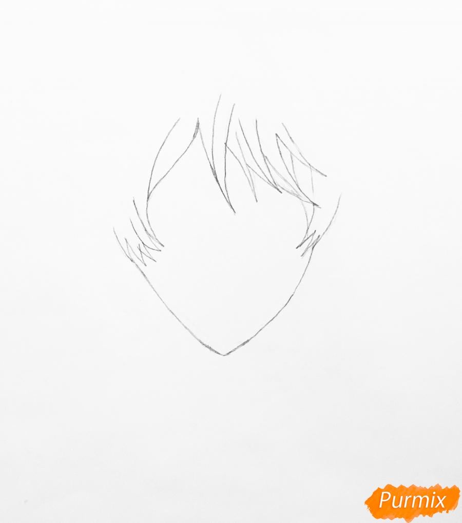 Рисуем портрет Айрис Каннари из аниме Вайолетт Эвергарден  . - шаг 1
