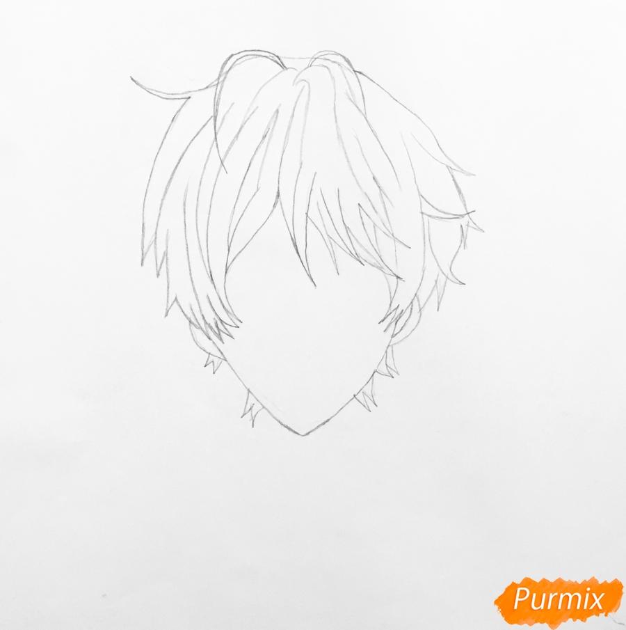 Рисуем портрет Айрис Каннари из аниме Вайолетт Эвергарден  . - шаг 2