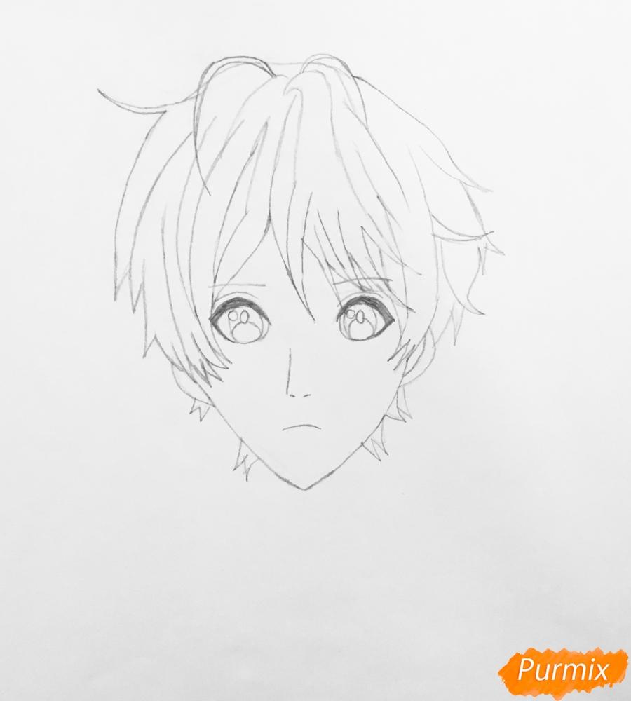 Рисуем портрет Айрис Каннари из аниме Вайолетт Эвергарден  . - шаг 3
