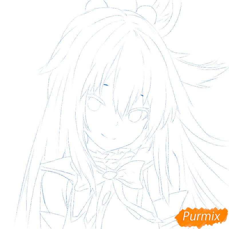 Рисуем Акву из аниме Богиня благословляет этот прекрасный мир - шаг 1