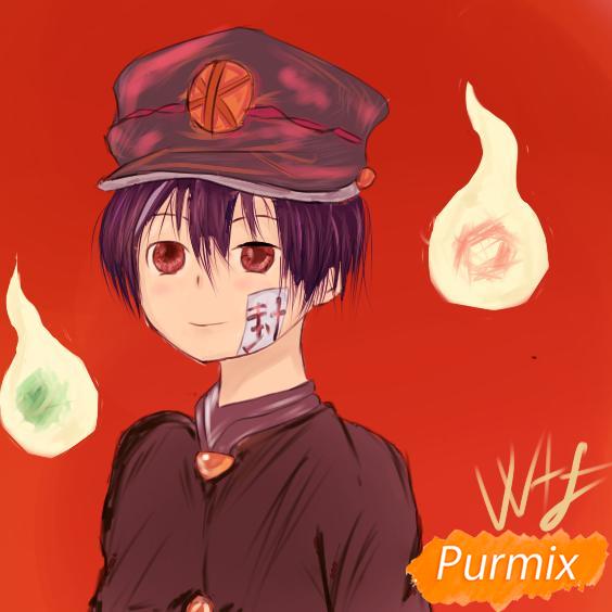 Как нарисовать Аманэ Юги из аниме Туалетный мальчик Ханако-кун
